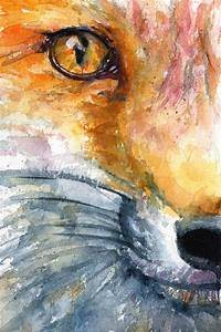 Eye Of Fox Painting by John D Benson