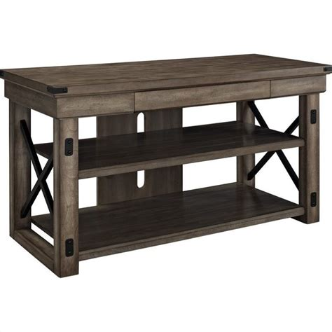 altra furniture wildwood rustic tv console with metal