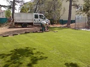Gazon Pour L Ombre : gazon et plantation cr ation de jardins brignoles var ~ Premium-room.com Idées de Décoration