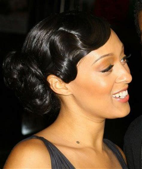 Finger Wave Updo Hairstyles by Polished Finger Wave Bun I Think The Waves Should Be