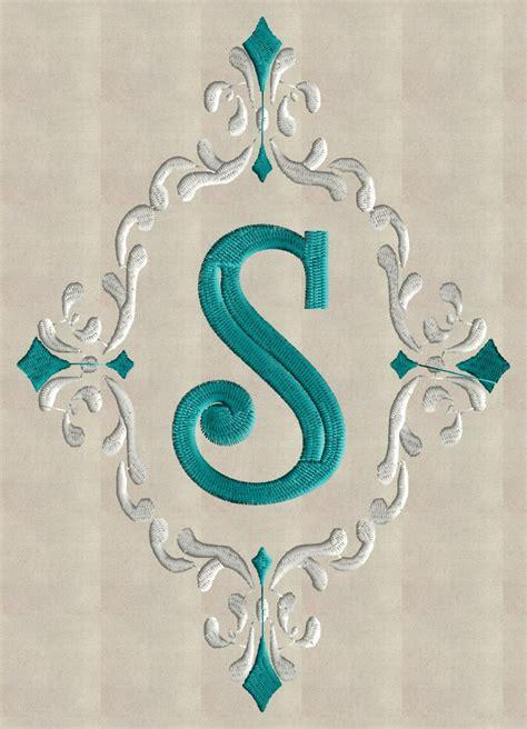 font frame monogram embroidery design font   stitchelf