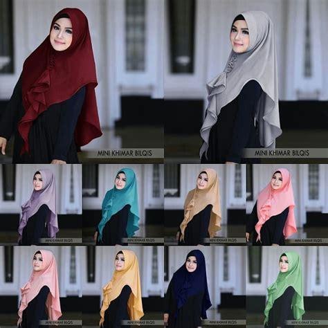 hijab khimar mini bilqis jilbab instan