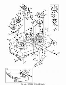 Troy Bilt 13wx79kt066 Horse  2012  Parts Diagram For Mower Deck