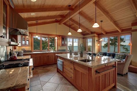cathedral ceiling kitchen lighting ideas 24 kitchens with jaw dropping cathedral ceilings page 3 of 5
