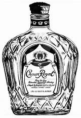 Crown Royal Drawing Bottle Tattoo Whiskey Drawings Clipart Irish Drawn Vector Tattoos Painting Vodka Scotch Templete Clips Clipartmag Favourites Crowns sketch template