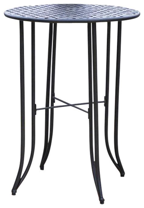 bar height side table bar height patio bistro table contemporary outdoor