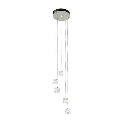 dar lighting prysm pry0550 polished chrome 5 light ceiling