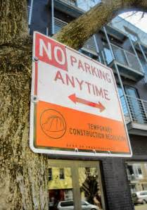 Construction No-Parking Signs