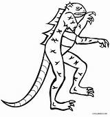 Lizard Coloring Pages Printable Cool2bkids Horned Getdrawings Drawing sketch template