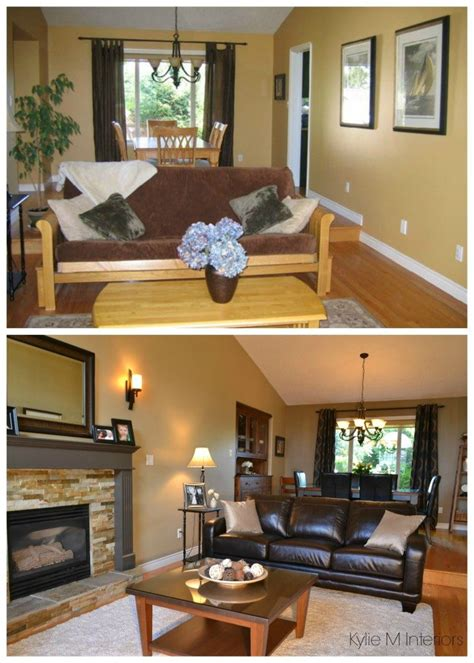 how to lighten a room with low natural light or room living room before and after with