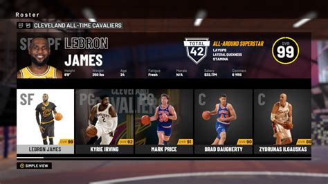 NBA 2K19: All-Time Cleveland Cavaliers Player Ratings and ...