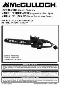 Mcculloch Ms1215 User Manual Pdf Download