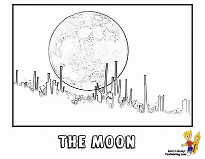 Moon Coloring Blood Space Shuttle Pages Yescoloring