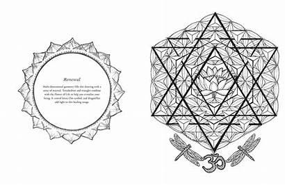 Geometry Sacred Coloring Hart Francene Books