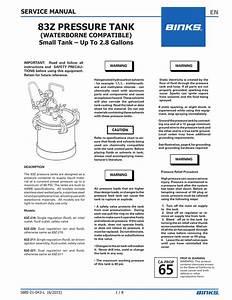 83z Pressure Tank En Service Manual  Waterborne Compatible
