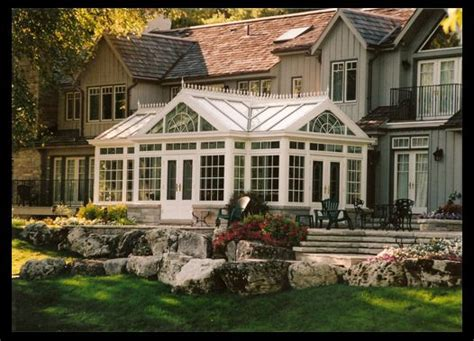 Conservatory Addition To Home by Luxury Country Conservatory Addition With Glass Roof In
