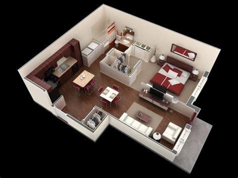 plan de chambre 3d 50 plans en 3d d appartement avec 1 chambres