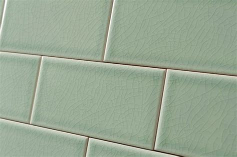 crackle glaze hyde park green subway wall tiles 7 5x15cm