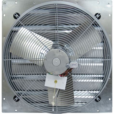 direct drive exhaust fans with shutters tpi shutter mounted direct drive exhaust fan 30in