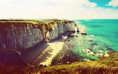 Stunning Wallpapers Desktop Cliffs Cliff Etretat Sea