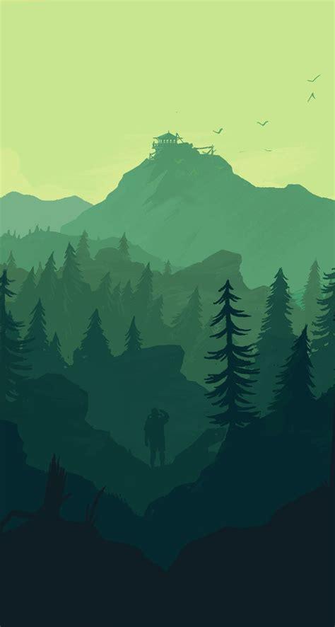 firewatch great idea  illustrator landscape digital