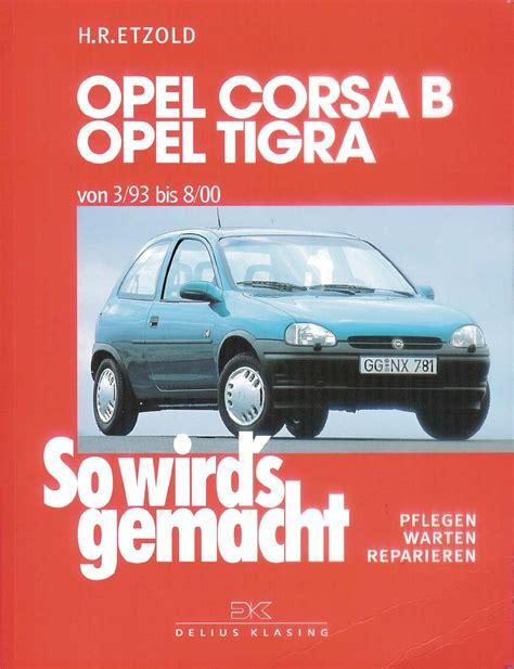 opel corsa   workshop manual