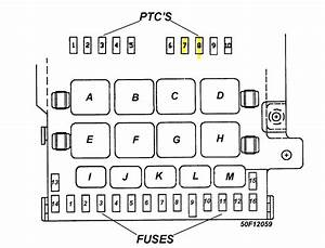 1996 Chrysler Town And Country Fuse Box Diagram  1996