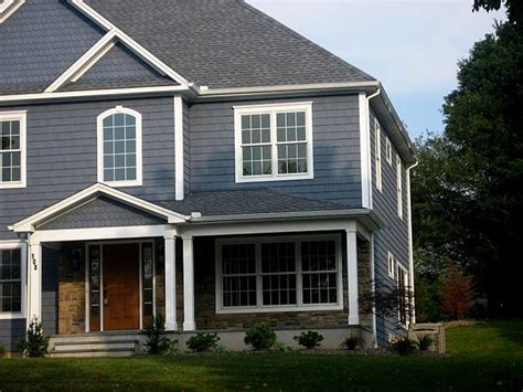 blue grey exterior cottage lakehouse ideas