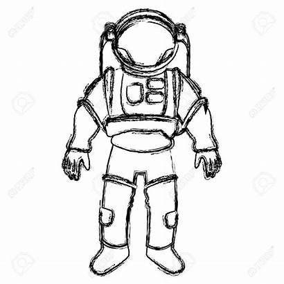 Astronaut Suit Drawing Space Helmet Illustration Protective