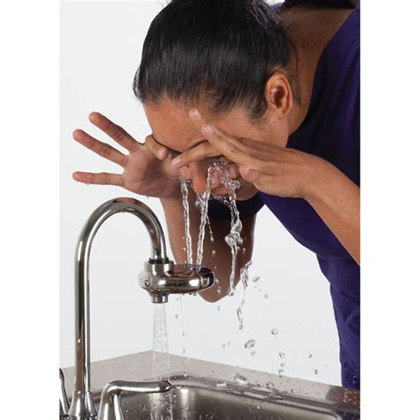 eyewash faucet attachment canada haws 7620 axion eyepod faucet mount eyewash from cole