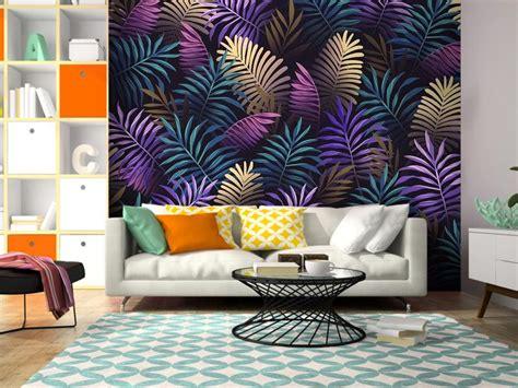 Фотообої Фіолетові тропічні листя купити на стіну • Еко ...