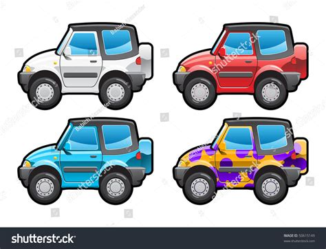 Crossover Part My Collections Car Body Stock Vector