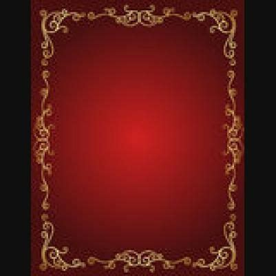 wedding red gold stylish invitations cover page borders