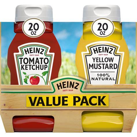 Heinz Tomato Ketchup & 100% Natural Yellow Mustard Value ...