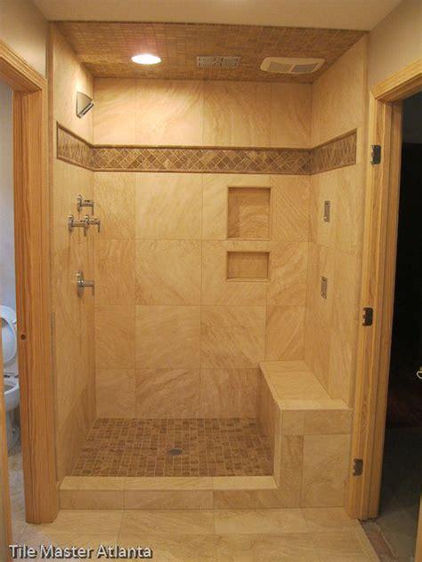 walk in shower tile designs walk in tiled shower baths pinterest