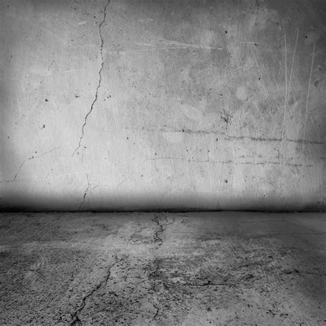 wall floor wall and floor concrete with crack