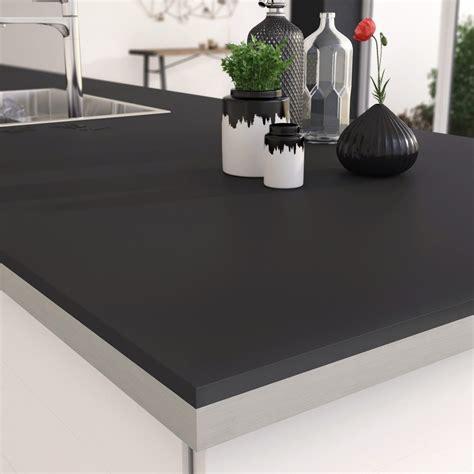 plan de travail cuisine stratifié plan de travail stratifié mat edition noir mat l 315 x p