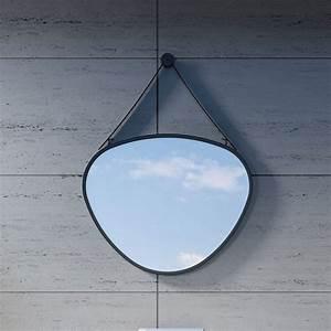 Miroir Cadre Noir : miroir en goutte avec cadre et fixation noir design sdvm5853 distribain ~ Teatrodelosmanantiales.com Idées de Décoration