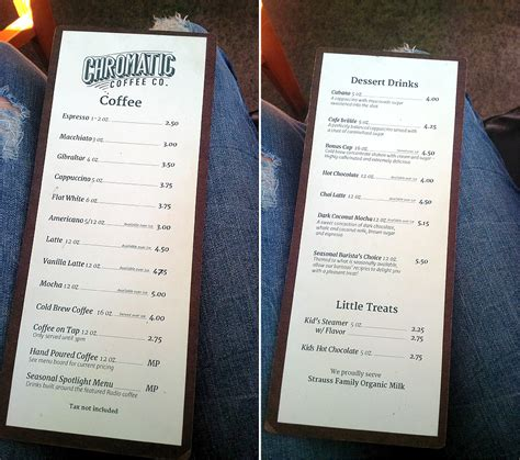 Add vanilla or coffee ice cream for $1.50. Exploring coffee shops: Chromatic Coffee Co. | spiffykerms.com