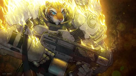 Anime Tiger Wallpaper - anthro weapons tiger wallpapers hd
