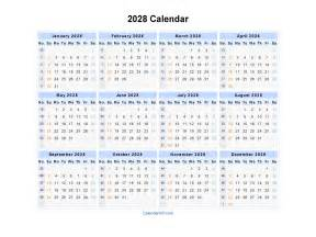 Excel Template Free 2028 Calendar Blank Printable Calendar Template In Pdf Word Excel