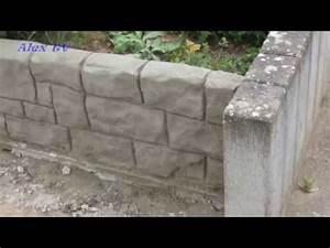 Beton Im Garten : mauer aus beton im garten youtube ~ Markanthonyermac.com Haus und Dekorationen