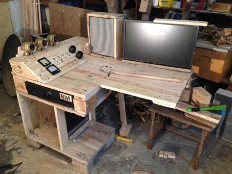 steampunk pallet desk  server part  pallet