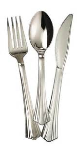 wedding cake serving set reflections plastic silver fork spoon knife set