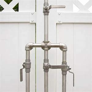 Design House Tub And Shower Faucet Deluxe Outdoor Shower Mixer With Foot Shower Outdoor