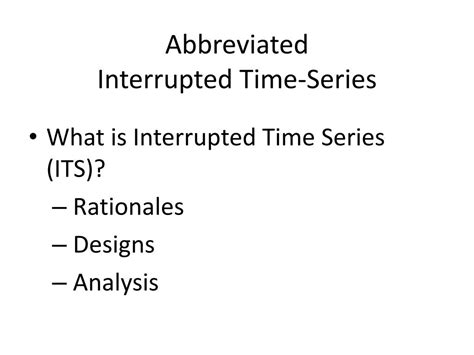interrupted time series design ppt abbreviated interrupted time series powerpoint
