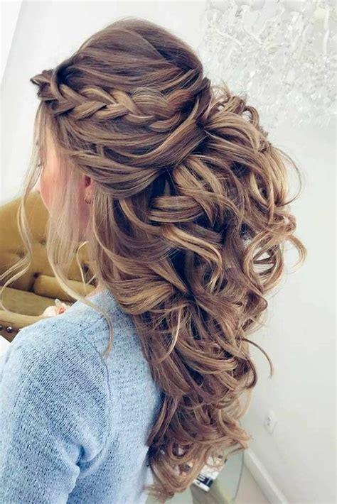 Idu00e9e Tendance Coupe u0026 Coiffure Femme 2017/ 2018  Coiffure mariage cheveux mi long bouclu00e9 idu00e9e ...