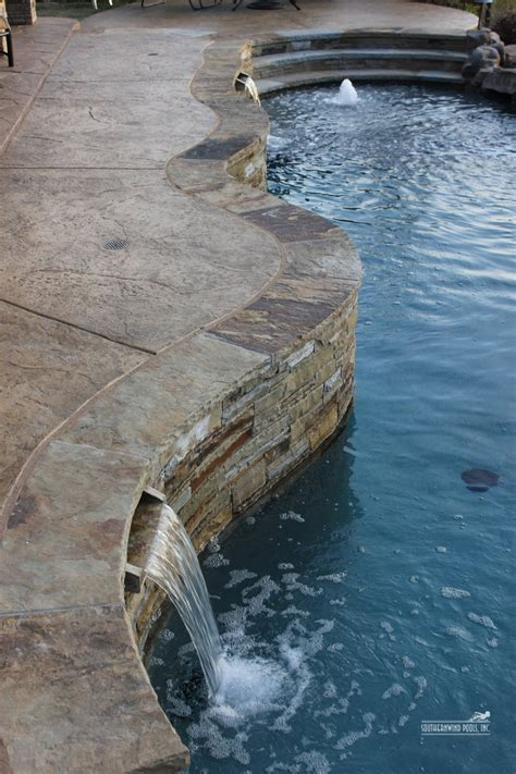 Fiberglass Pool Waterline Tile by Pool Surround Answers Granite Blue Or Sandstone