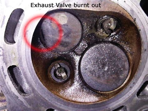 engine     burnt valve