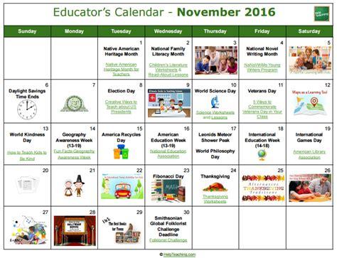 educators calendar